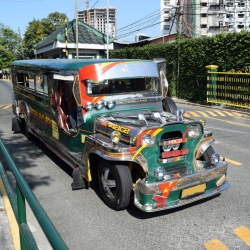 This is a Jeepney in Manila Philippines